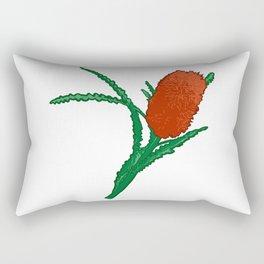 Banksia Illustration - Australian Native Florals Rectangular Pillow