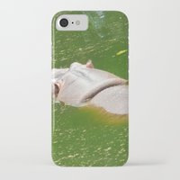 hippo iPhone & iPod Cases featuring Hippo by Doodlevania