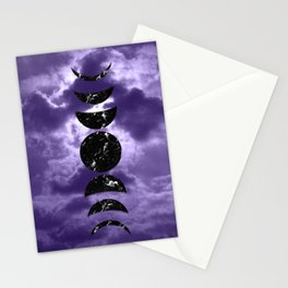 Marbled Moon Phases #3 #decor #art #society6 Stationery Cards