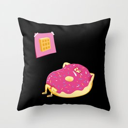 DONUT GIVE UP Throw Pillow