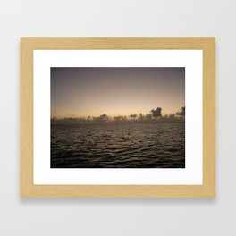 Jamaica by Sea at Dusk Framed Art Print