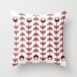flowers upside down Throw Pillow
