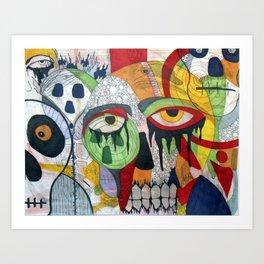 Smile at fear Art Print