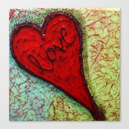 red heart of love by Swade Art Canvas Print