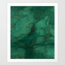 Hunter Green Marble Art Print