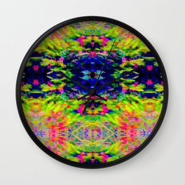 2705 Pattern by hedge Wall Clock