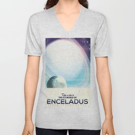 Enceladus Space Corp. Vacation poster Unisex V-Neck