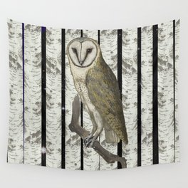 An owl look out Wall Tapestry