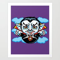 cunt Art Prints featuring Cunt Dracula by harebrained