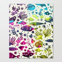 under the sea Canvas Prints featuring Under The Sea by 83 Oranges™