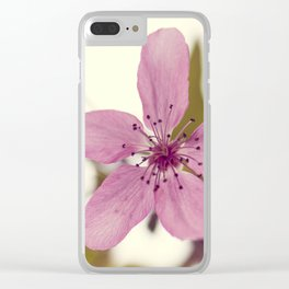 Pink blooming tree Clear iPhone Case
