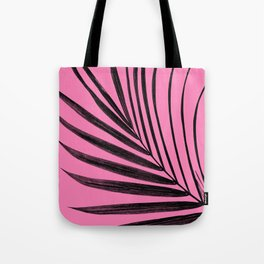 Simple palm leaves with pink Tote Bag