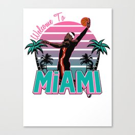 """The Victrs """"Welcome To Miami"""" Canvas Print"""