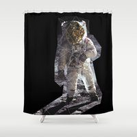 geode Shower Curtains featuring Geode Face IV by hunnydoll