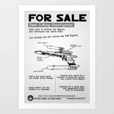 For Sale: X-Wing Starfighter Art Print