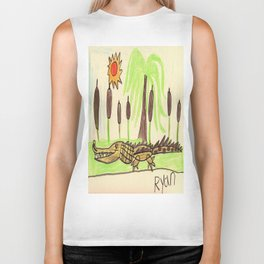 Crocodile Swamp Biker Tank