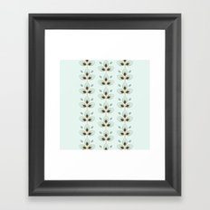 Mint Blossoms Framed Art Print