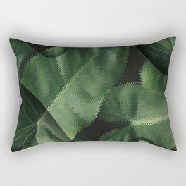 anthurium green leaves Rectangular Pillow