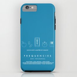 FREQUENCIES (OXV: THE MANUAL) OFFICIAL AUSTRALIAN RELEASE POSTER (BLUE) iPhone Case