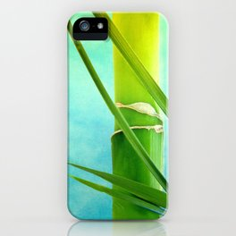 WELLNESS BAMBOO iPhone Case