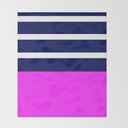 Summer Patio Perfect, Pink, White, Navy Throw Blanket