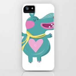 Cute Baby Hippos iPhone Case