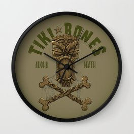 Tiki Bones Wall Clock