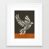peace Framed Art Prints featuring PEACE by Mathis Rekowski