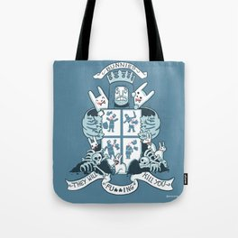 Bunnies are Evil Tote Bag
