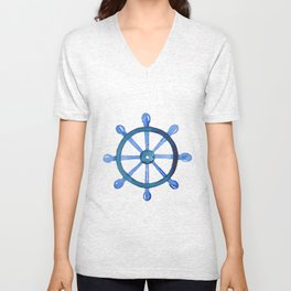 Navigating the seas Unisex V-Neck