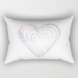 White Snow Heart On A White Background #decor #society6 #buyart Rectangular Pillow