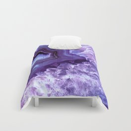 Purple Lavender Quartz Crystal Comforters