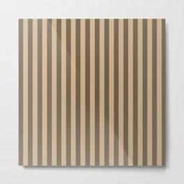 Tan Stripes Pattern Metal Print