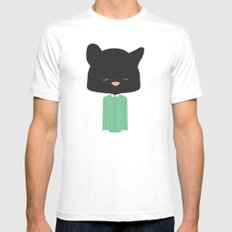 Mr. Pussy Gato Mens Fitted Tee White MEDIUM