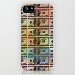 Money Flow by Kimberly J Graphics iPhone Case