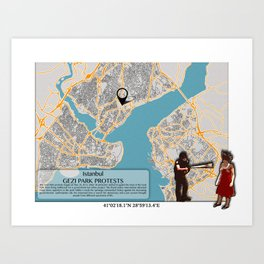 Atlas of Inspiring Protests; ISTANBUL Art Print