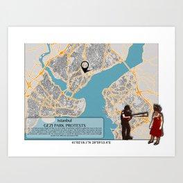 Atlas of Inspiring Protests; ISTANBUL Art Print