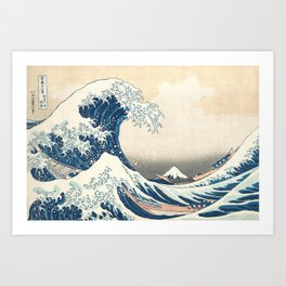 The Great Wave off Kanagawa by Katsushika Hokusai from the series Thirty-six Views of Mount Fuji Art Print