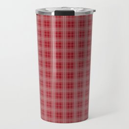 Christmas Cranberry Red Jelly Tartan Plaid Check Travel Mug