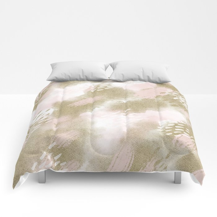 Custom Watercolor Multicolor Geometric Pattern Comforters