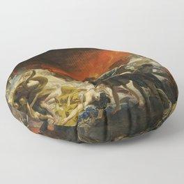 Karl Briullov - Last Day of Pompeii Floor Pillow