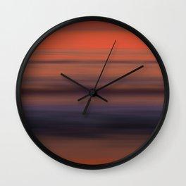 Torrey Pines Sunset Long Exposure Panorama Sweep Wall Clock