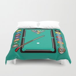 Billiards Table and Equipment Duvet Cover