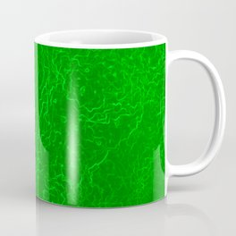 Neon Green Alien DNA Plasma Swirl Coffee Mug