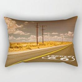 U.S. Route 66 highway. Rectangular Pillow