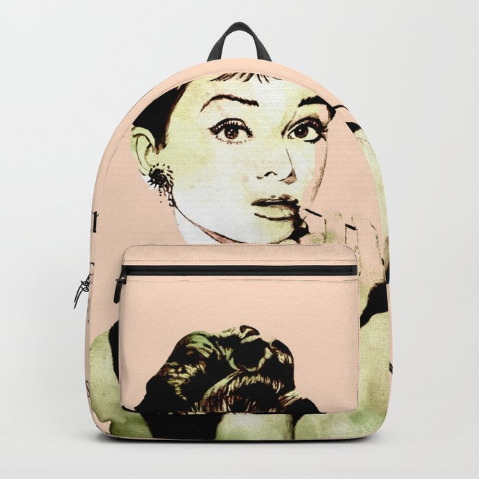 MISS GLOLIGHTLY - Breakfast at Tiffany´s - QUOTE Backpack