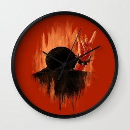Rock Hard Snail Wall Clock