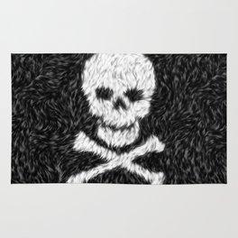Furry Skull & Bones Rug