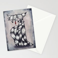 Her Owl Hair Stationery Cards