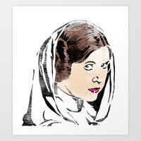 princess leia Art Prints featuring Leia by Hey!Roger